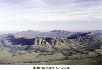 aerial of Wilpena pound,South Australia