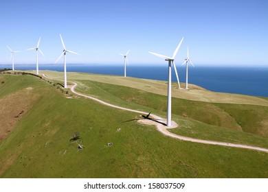 aerial wind farm south australia