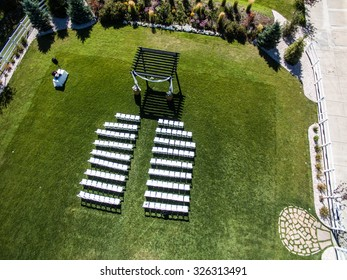 Aerial/Drone View of a Wedding Venue
