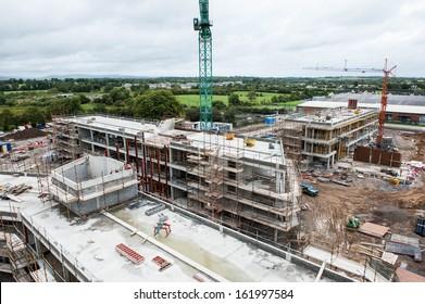 Aeriel of a building site in Ireland.