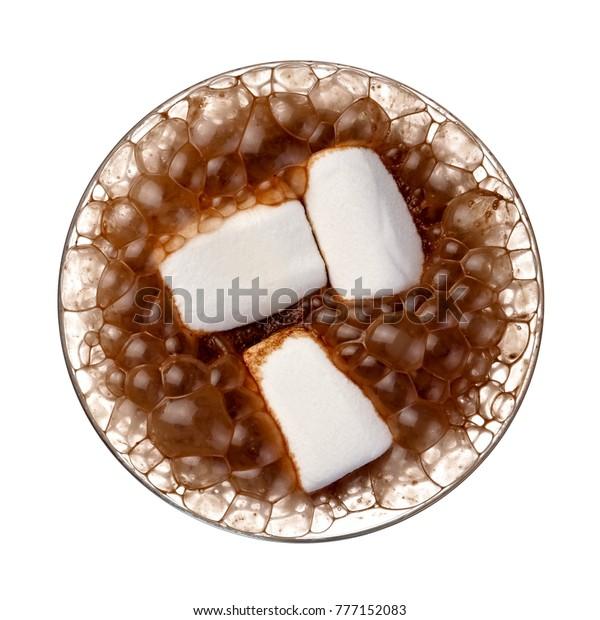 Aero Hot Chocolate Marshmallow Top View Stock Photo Edit