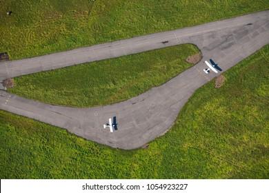 Aerodrome, runway, small aircraft.