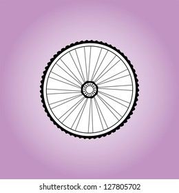 Aerodynamic front road or time trial wheel with tyre, raster