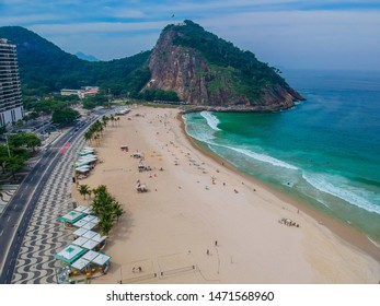 Aerophotography of Copacabana beach .The most popular beach and a favorite holiday destination for tourists from all over the world. Leme and Copacabana Beach in Rio de Janeiro, Brazil.
