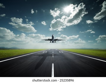 aeroplane at the airport with good weather