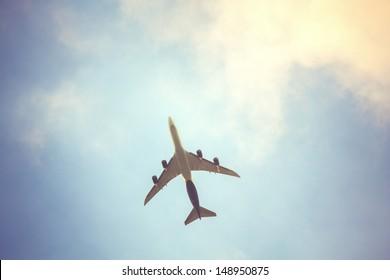 aeroplane upon the sky