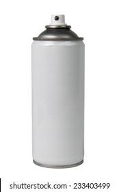 aerosol on the white background