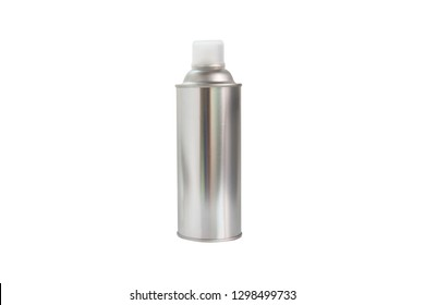 aerosol spray can with plastic isolate on white background.