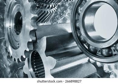 aerospace cogwheels and bearings in titanium and steel