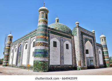 The Afaq Khoja Mausoleum or Aba Khoja Mausoleum is the holiest Muslim site located near oasis city of Kashgar in Xinjiang Uighur Autonomous Region of China.