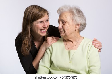 Affection Between Grandmother and Granddaughter