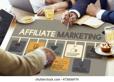 Affiliate Marketing Advertising Commercial Concept