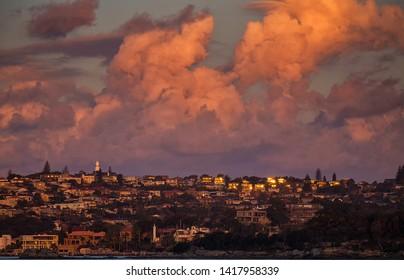 The affluent Sydney suburb of Vaucluse duing a beautiful Autumn sunset
