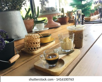 """An affogato (Italian for """"drowned"""") is an Italian coffee-based dessert. It usually takes the form of a scoop of vanilla gelato or ice cream topped or """"drowned"""" with a shot of hot espresso."""