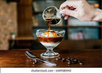 Affogato Recipe , Coffee and ice cream,Affogato