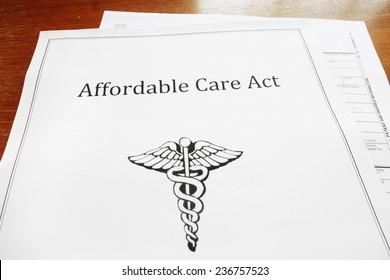 Affordable Care Act / Obamacare document on a desk
