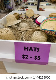 Affordable Fun and Colorful Used Hats for Sale at a Thrift or Resale Store