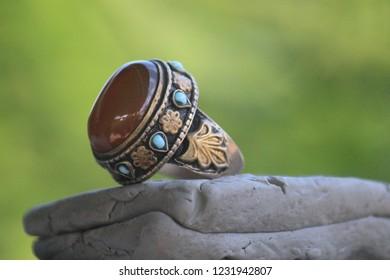 Afghan  Islamic Carnelian Stone Ring