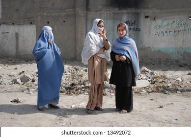 Afghan women on the street