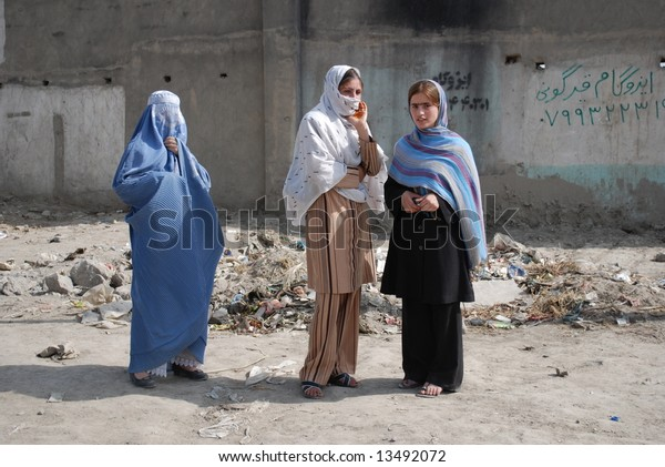 Afghan women on the street