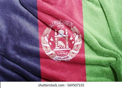 Afghanistan flag fluffy soft texture