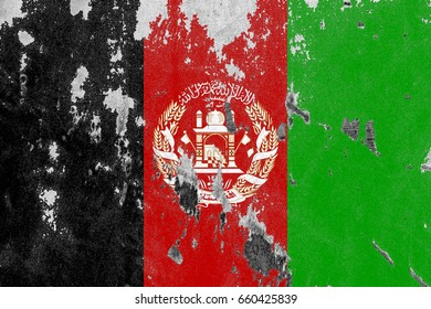 Afghanistan flag grunge background. Background for design in country flag