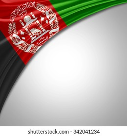 Afghanistan flag  of  silk with copyspace for your text or images