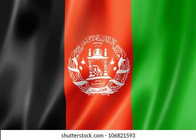 Afghanistan flag, three dimensional render, satin texture