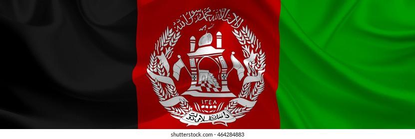 Afghanistan flag wide format