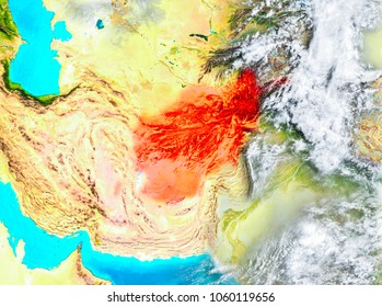 Islamic republic of afghanistan stock images royalty free images afghanistan highlighted in red on planet earth 3d illustration elements of this image furnished gumiabroncs Image collections