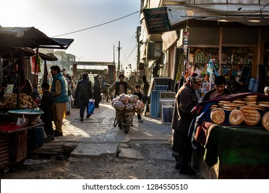 Afghanistan / Mezar-i Sharif - January 2018 - Early morning people are starting shopping in city of Mezar-i Sharif