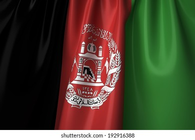 Afghanistan waving flag with accurate colors and design.