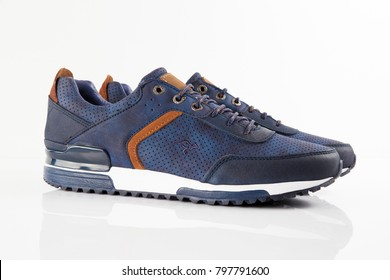 Afife, Portugal - January 20, 2018: Kangaroos Shoes. Kangaroos, España company. Isolated on white. Product shots