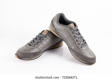 Afife, Portugal - September 27, 2017: Casual Shoes. Casual, Portuguese company. Isolated on white. Product shots