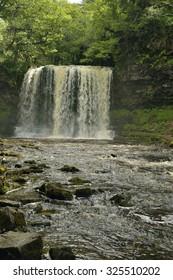 Afon Hepste & Sgwd yr Eira Waterfall Brecon Beacons, Wales