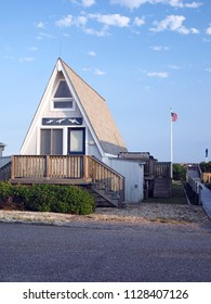 a-frame cottage in trailer park oceanfront Montauk New York in The Hamptons