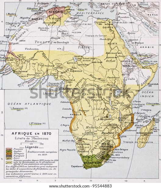 Africa 1870 Old Map By Paul Stock Photo (Edit Now) 95544883 on map of africa food, map of africa updated, map of africa current, map of africa 2014, map of africa google, map of africa cdc, map of africa detailed, map of africa clear,