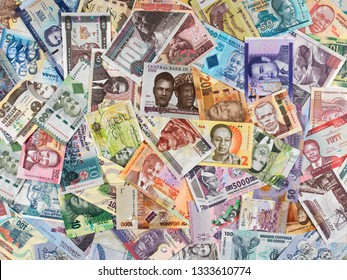 Africa currency notes. African money, trade, economy, stock, market.