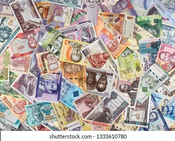 Africa currency notes. African money, trade, economy.