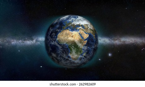 Africa Day Galactic View (Elements of this image furnished by NASA)