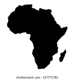 africa map black silhouette