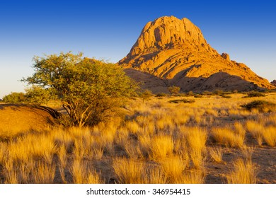 Africa. Nature and landscapes of Namibia. Growth of temperature and climatic changes on Earth. Increase in the areas of deserts.