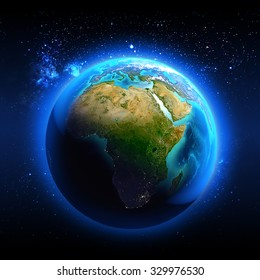 Africa seen from space  / Elements of this image furnished by NASA.