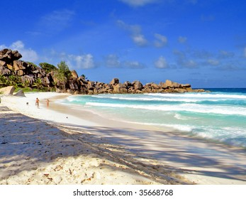 Africa, Seychelles, La digue island, Grande anse beach