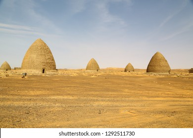in africa sudan old dongada the antique city of the nubiansnear the nilo and tombs