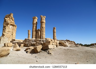 in africa sudan soleb  the antique temple of the black pharaohs in the middle of the desert