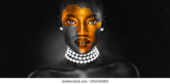 ein afrikanisches Symbol auf der schönen afrikanischen Seite eines jungen