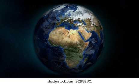 Africa/Europe Day (Elements of this image furnished by NASA)