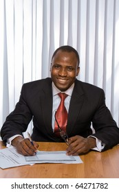 Africam americam business man