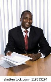 African americam business man